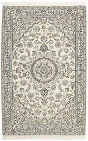 Nain 9La Matto 118X184 Itämainen Käsinsolmittu Vaaleanharmaa/Beige (Villa/Silkki, Persia/Iran)