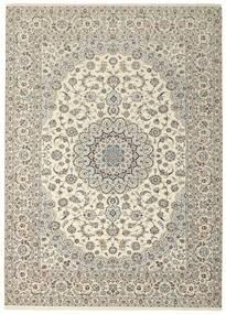Nain 6La Matto 258X350 Itämainen Käsinsolmittu Vaaleanharmaa/Beige Isot (Villa/Silkki, Persia/Iran)