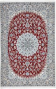 Nain 9La Matto 154X235 Itämainen Käsinsolmittu Vaaleanharmaa/Tummanruskea (Villa/Silkki, Persia/Iran)
