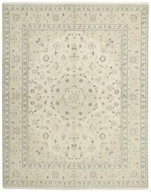 Nain 9La Matto 196X249 Itämainen Käsinsolmittu Tummanbeige/Beige (Villa/Silkki, Persia/Iran)