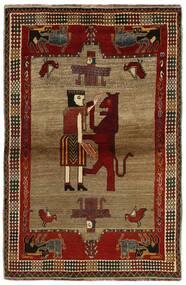 Ghashghai Matto 132X200 Itämainen Käsinsolmittu Tummanruskea/Vaaleanruskea (Villa, Persia/Iran)