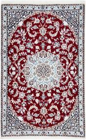 Nain 9La Matto 89X139 Itämainen Käsinsolmittu Beige/Tummanpunainen (Villa/Silkki, Persia/Iran)