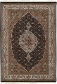 Tabriz Royal Matto 144X200 Itämainen Käsinsolmittu Tummanruskea/Ruskea ( Intia)