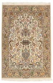 Isfahan Silkkiloimi Matto 103X153 Itämainen Käsinsolmittu Ruskea/Beige (Villa/Silkki, Persia/Iran)
