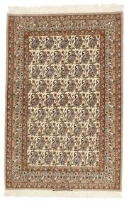 Isfahan Silkkiloimi Matto 111X166 Itämainen Käsinsolmittu Ruskea/Vaaleanruskea/Beige (Villa/Silkki, Persia/Iran)