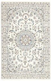 Nain 9La Matto 114X179 Itämainen Käsinsolmittu Vaaleanharmaa/Valkoinen/Creme/Beige (Villa/Silkki, Persia/Iran)