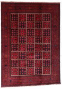 Afghan Khal Mohammadi Matto 203X284 Itämainen Käsinsolmittu Tummanpunainen (Villa, Afganistan)