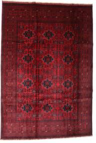 Afghan Khal Mohammadi Matto 201X293 Itämainen Käsinsolmittu Tummanpunainen/Tummanruskea (Villa, Afganistan)
