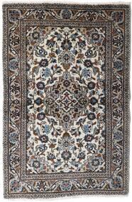 Keshan Matto 94X145 Itämainen Käsinsolmittu Vaaleanharmaa/Musta (Villa, Persia/Iran)