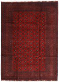 Afghan Matto 205X284 Itämainen Käsinsolmittu Tummanpunainen/Tummanruskea (Villa, Afganistan)