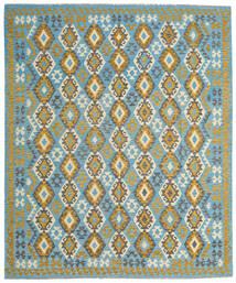 Kelim Afghan Old Style Matto 253X304 Itämainen Käsinkudottu Tummanharmaa/Siniturkoosi Isot (Villa, Afganistan)