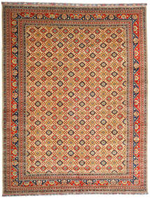 Kunduz Matto 382X488 Itämainen Käsinsolmittu Tummanpunainen/Tummanbeige Isot (Villa, Afganistan)
