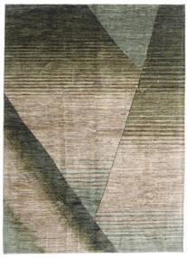 Battuta Matto 175X239 Moderni Käsinsolmittu Vaaleanharmaa/Tummanvihreä (Villa, Afganistan)