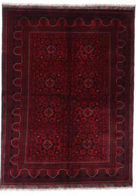 Kunduz Matto 147X198 Itämainen Käsinsolmittu Tummanpunainen (Villa, Afganistan)