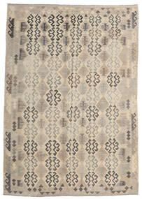 Kelim Afghan Old Style Matto 205X293 Itämainen Käsinkudottu Vaaleanharmaa/Beige (Villa, Afganistan)