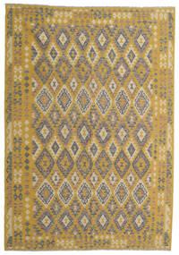 Kelim Afghan Old Style Matto 204X298 Itämainen Käsinkudottu Vaaleanruskea/Keltainen (Villa, Afganistan)