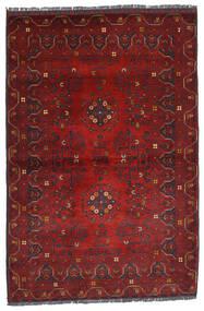 Kunduz Matto 100X150 Itämainen Käsinsolmittu Tummanpunainen (Villa, Afganistan)