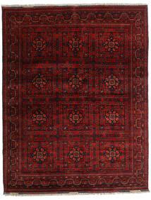 Kunduz Matto 151X193 Itämainen Käsinsolmittu Tummanpunainen/Tummanruskea (Villa, Afganistan)
