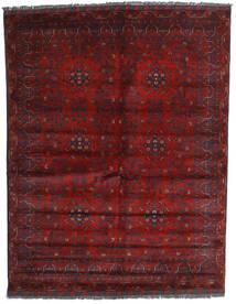 Kunduz Matto 158X202 Itämainen Käsinsolmittu Tummanpunainen (Villa, Afganistan)