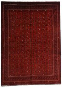 Kunduz Matto 246X348 Itämainen Käsinsolmittu Tummanpunainen/Tummanruskea (Villa, Afganistan)