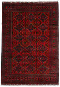 Kunduz Matto 200X284 Itämainen Käsinsolmittu Tummanpunainen (Villa, Afganistan)