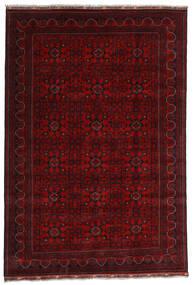 Kunduz Matto 191X281 Itämainen Käsinsolmittu Tummanpunainen (Villa, Afganistan)
