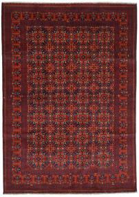 Kunduz Matto 207X292 Itämainen Käsinsolmittu Tummanpunainen/Tummanruskea (Villa, Afganistan)