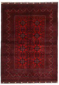 Kunduz Matto 169X232 Itämainen Käsinsolmittu Tummanpunainen/Punainen (Villa, Afganistan)