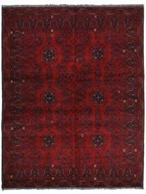 Kunduz Matto 152X194 Itämainen Käsinsolmittu Tummanpunainen (Villa, Afganistan)