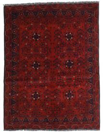 Kunduz Matto 146X194 Itämainen Käsinsolmittu Tummanpunainen (Villa, Afganistan)