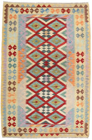 Kelim Afghan Old Style Matto 125X189 Itämainen Käsinkudottu Vaaleanvihreä/Tummanpunainen (Villa, Afganistan)