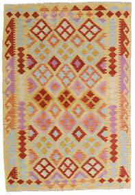 Kelim Afghan Old Style Matto 125X183 Itämainen Käsinkudottu Vaaleanruskea/Tummanbeige (Villa, Afganistan)
