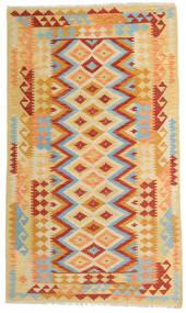 Kelim Afghan Old Style Matto 119X203 Itämainen Käsinkudottu Tummanbeige/Oranssi (Villa, Afganistan)