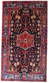 Nahavand Matto 142X257 Itämainen Käsinsolmittu Tummanpunainen/Musta (Villa, Persia/Iran)