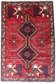 Ghashghai Matto 162X242 Itämainen Käsinsolmittu Punainen/Tummanpunainen (Villa, Persia/Iran)