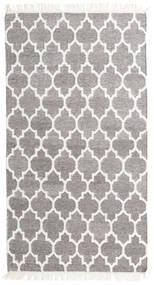 Bamboo Silkki Kelim Matto 90X160 Moderni Käsinkudottu Vaaleanharmaa/Valkoinen/Creme (Villa/Bambu Silkki, Intia)