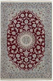 Nain 9La Matto 120X181 Itämainen Käsinsolmittu Vaaleanharmaa/Tummanruskea (Villa/Silkki, Persia/Iran)