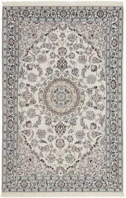 Nain 9La Matto 116X183 Itämainen Käsinsolmittu Vaaleanharmaa/Tummanharmaa (Villa/Silkki, Persia/Iran)