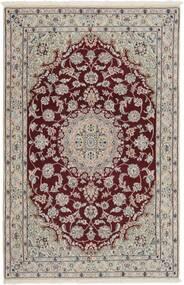Nain 9La Matto 116X176 Itämainen Käsinsolmittu Vaaleanharmaa/Tummanpunainen (Villa/Silkki, Persia/Iran)