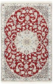 Nain 9La Matto 90X140 Itämainen Käsinsolmittu Beige/Vaaleanharmaa/Tummanpunainen (Villa/Silkki, Persia/Iran)