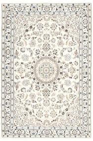 Nain 9La Matto 115X171 Itämainen Käsinsolmittu Beige/Valkoinen/Creme/Vaaleanharmaa (Villa/Silkki, Persia/Iran)