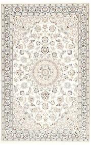 Nain 9La Matto 116X181 Itämainen Käsinsolmittu Beige/Vaaleanharmaa/Valkoinen/Creme (Villa/Silkki, Persia/Iran)