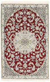 Nain 9La Matto 87X139 Itämainen Käsinsolmittu Beige/Vaaleanharmaa (Villa/Silkki, Persia/Iran)