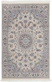 Nain 9La Matto 116X180 Itämainen Käsinsolmittu Vaaleanharmaa/Tummanruskea (Villa/Silkki, Persia/Iran)