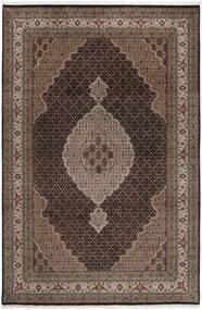 Tabriz Royal Matto 199X292 Itämainen Käsinsolmittu Tummanruskea/Ruskea ( Intia)