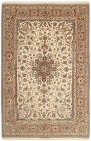 Isfahan Silkkiloimi Matto 207X314 Itämainen Käsinsolmittu Ruskea/Beige (Villa/Silkki, Persia/Iran)