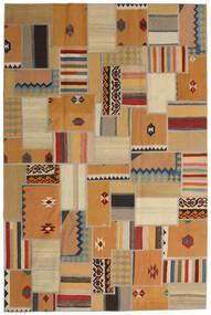 Tekkeh Kelim Matto 200X302 Moderni Käsinkudottu Vaaleanruskea/Ruskea/Tummanbeige (Villa, Persia/Iran)