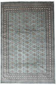Pakistan Bokhara 2Ply Matto 201X305 Itämainen Käsinsolmittu Tummanharmaa/Vaaleanharmaa (Villa, Pakistan)