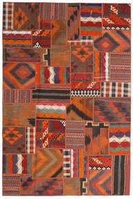 Tekkeh Kelim Matto 200X301 Moderni Käsinkudottu Tummanruskea/Punainen (Villa, Persia/Iran)