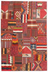 Tekkeh Kelim Matto 200X302 Moderni Käsinkudottu Tummanpunainen/Ruoste (Villa, Persia/Iran)